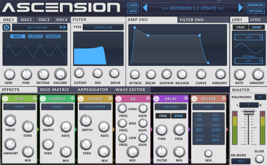 Ascension VST 1.5 Update Available Now!
